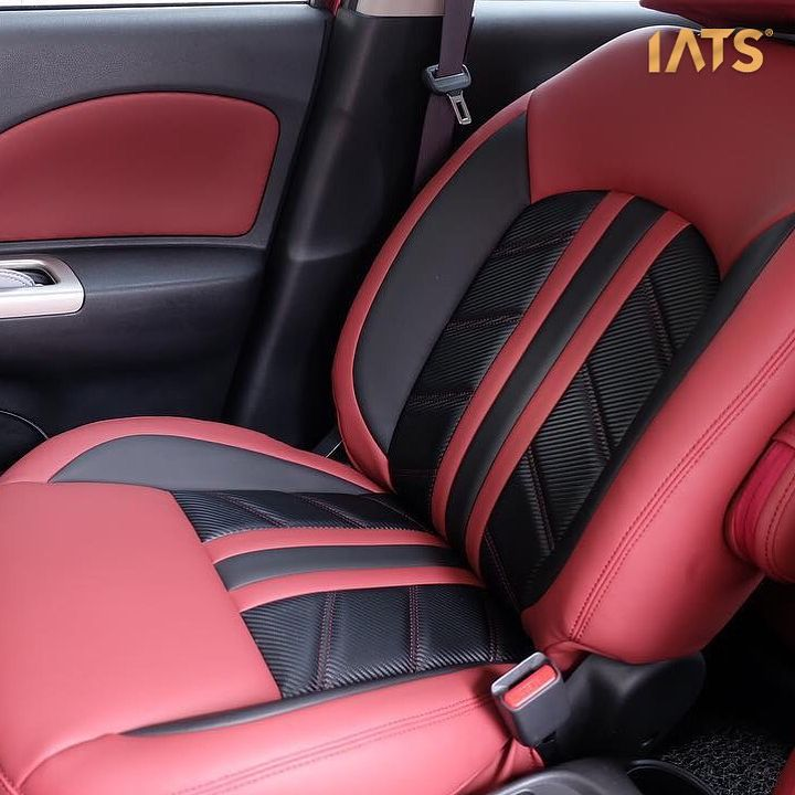Red And Black Interior White Stitching Grey Seats And Door