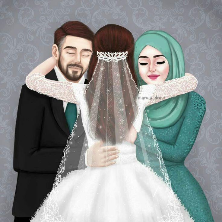 Cute Indian Married Couple Wallpaper Nor Syafiqah Cartoon Girls Sarra Art Art Girl Art