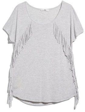 MANGO フリンジTシャツ  / Fringe T -shirt on ShopStyle
