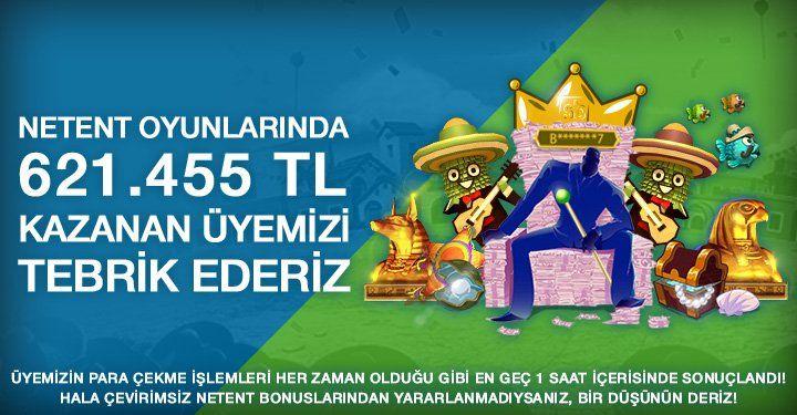 #Superbetin'de #NETENT Casino Oyunları Kazandırmaya Devam Ediyor📡  621 BIN TL Kazanan B*******7 Kullanıcımızı Tebrik Ediyoruz 👏