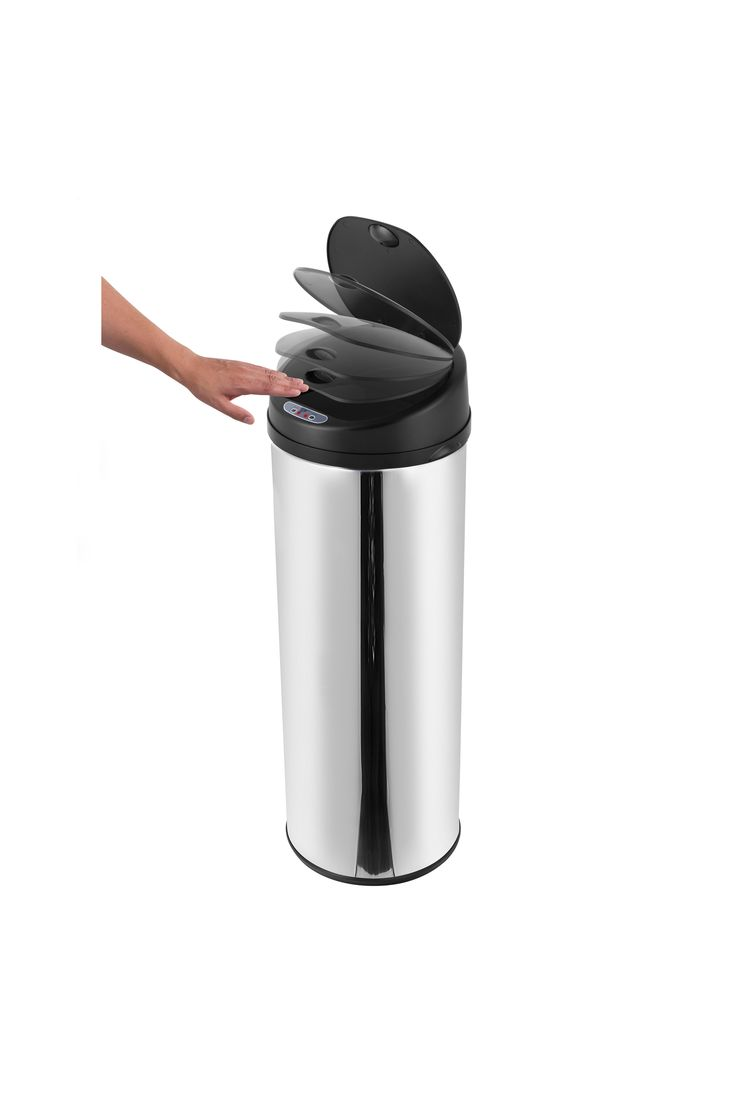 Morphy Richards Chroma 42Ltr Round Sensor Bin, Stainless Steel | Stainless Steel | One Size | BHS