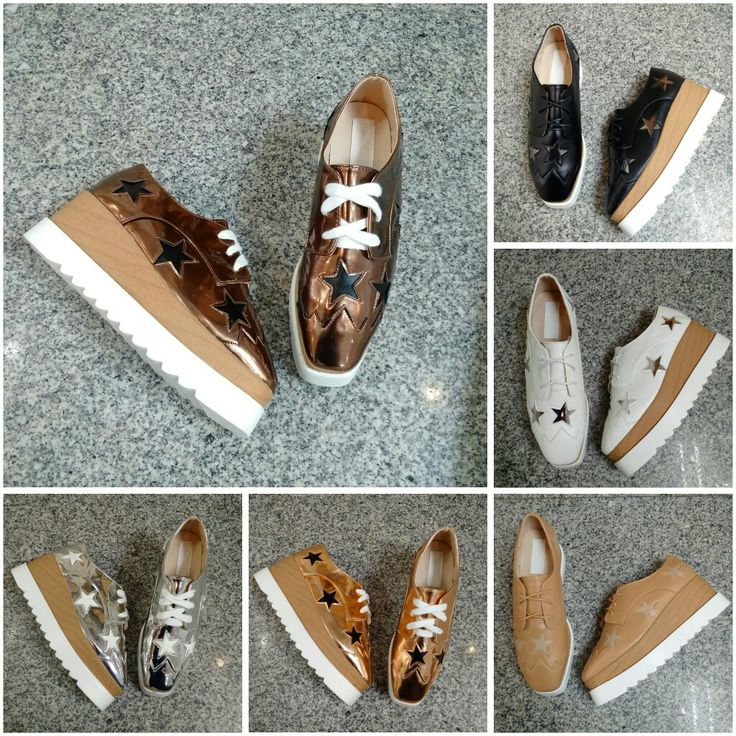 Stella McCartney A768-3 Star  Glossy : Silver, Bronze/Gold, Champame/Coklat  Dove : Black, White, Beige  Size 35 - 40 + Box Stella McCartney  415rb