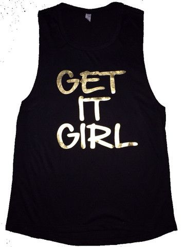 Get it Girl - Muscle Tank - Ruffles with Love - Womens Fitness Clothin