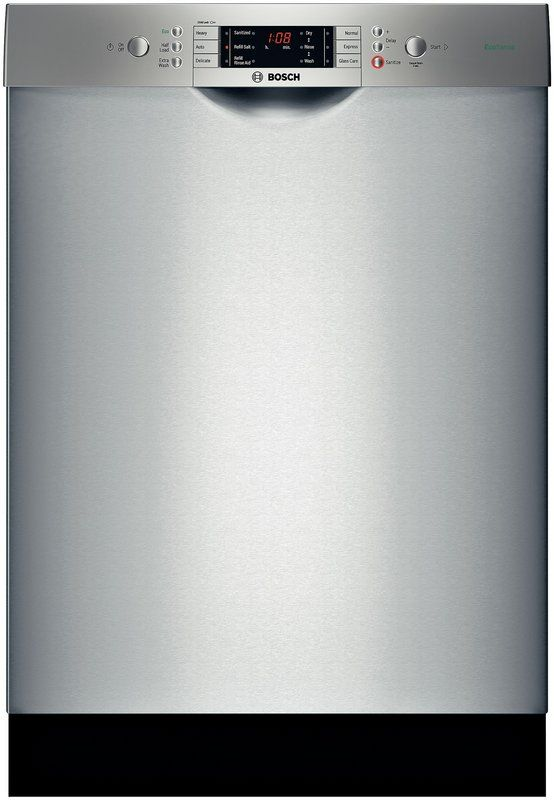 """Buy the Bosch SGE63E15UC 24"""" Built-In Dishwasher with Recessed Handle - Quietest Dishwasher Brand. In-stock at Build.com. Read the latest reviews for the Bosch SGE63E15UC 24"""" Built-In Dishwasher with Recessed Handle - Quietest Dishwasher Brand."""