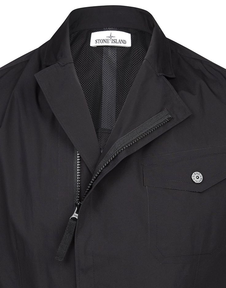A0225 WATER REPELLENT SUPIMA COTTON Jacket in Black