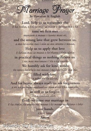hawaiian wedding blessing - Google Search