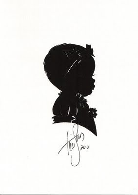 silhouettes~ this artist can do this from a side portrait...I went back in my photo albums, and they turned out great!