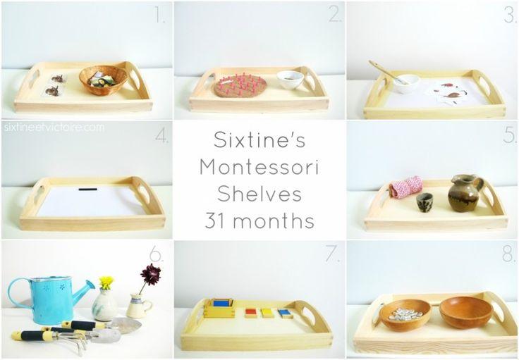 Montessori activities for 31months
