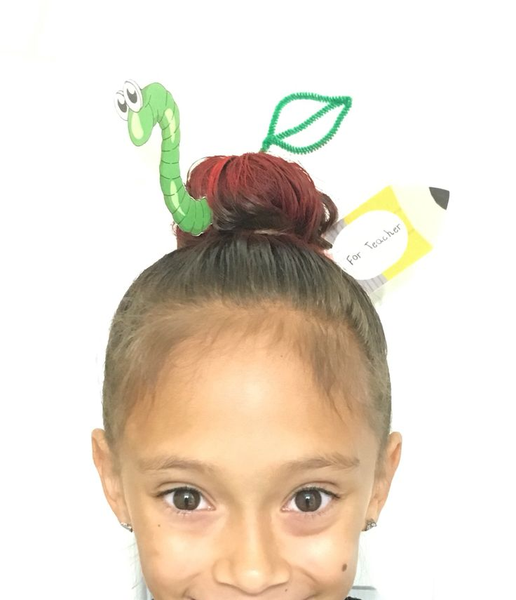 Apple for teacher. Crazy hair day