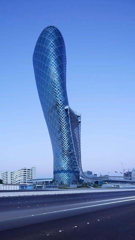 The leaning hotel, HYATT Capital Gate Abu Dhabi. Photography by Lasvit.