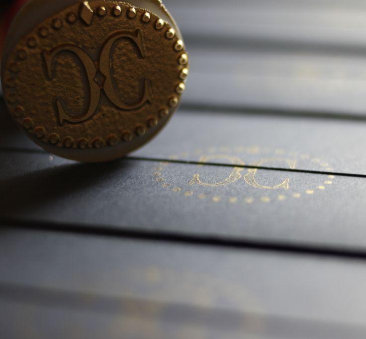#stamp #goldink #invitation #envelope