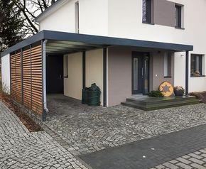 carport mit eingangs berdachung vordach f r haust ren. Black Bedroom Furniture Sets. Home Design Ideas