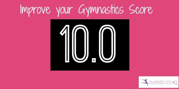 As a gymnastics judge, I can tell you that there are a couple easy tips for improving your gymnastics score. Keep your legs straight andpointyour toes.- During your routine, each time you bend yo…