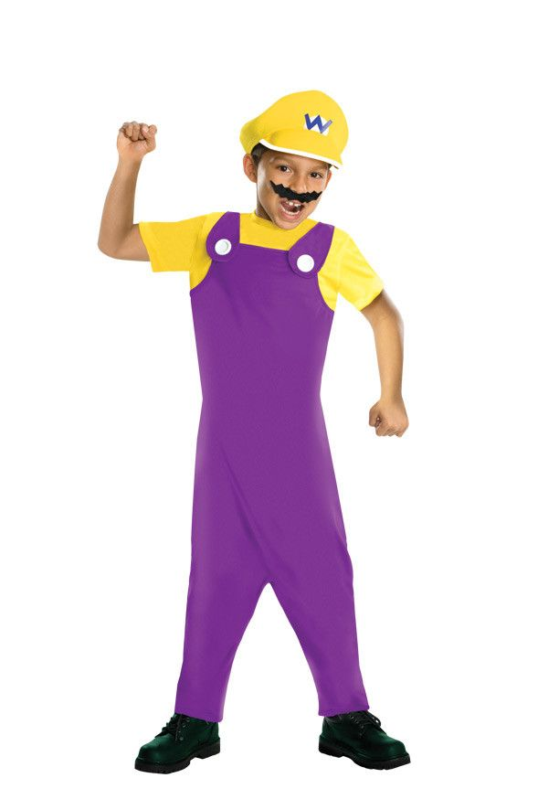 Super Mario Bros Wario Costume Child