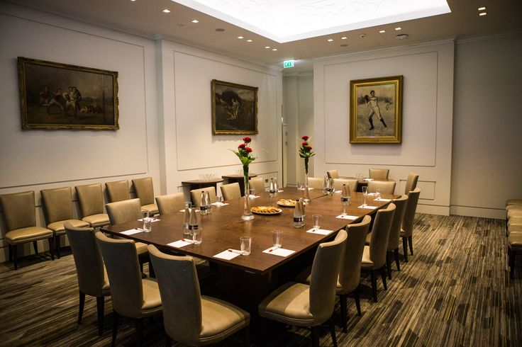 The Presidents Suite set up for a boardroom meeting with a refreshments break - A perfect setting for VIP clients - London Venues #events #London