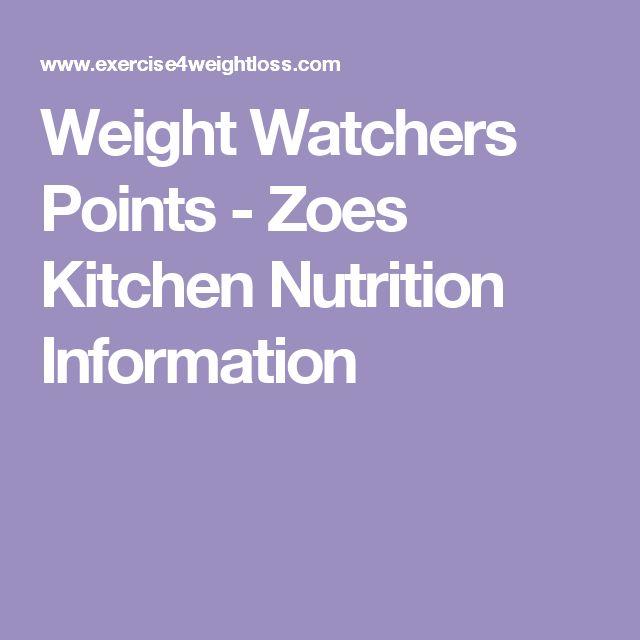 Zoe S Kitchen Weight Watcher Points