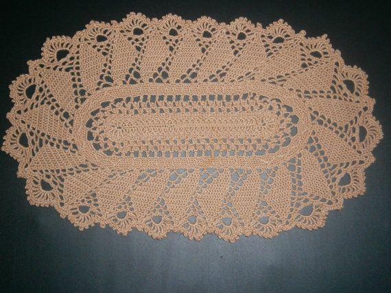 Oval Doily, Handmade Crochet