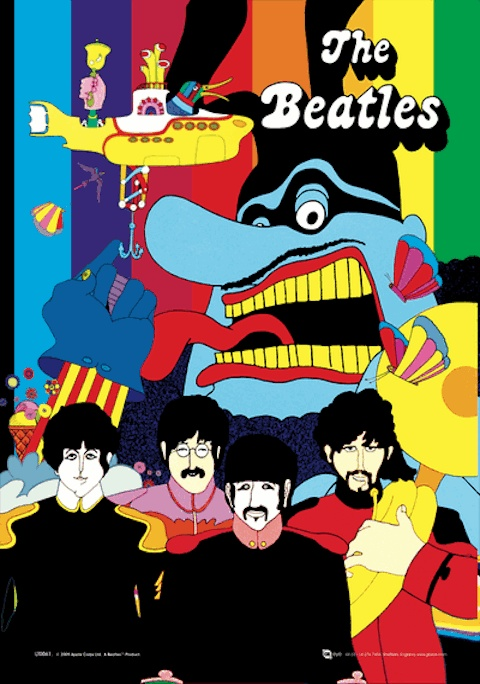 The Beatles Yellow Submarine Poster  // Unique gifts on Shopify