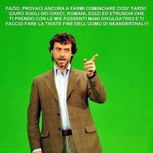 Dal web Alberto Angela Vs Fabio Fazio