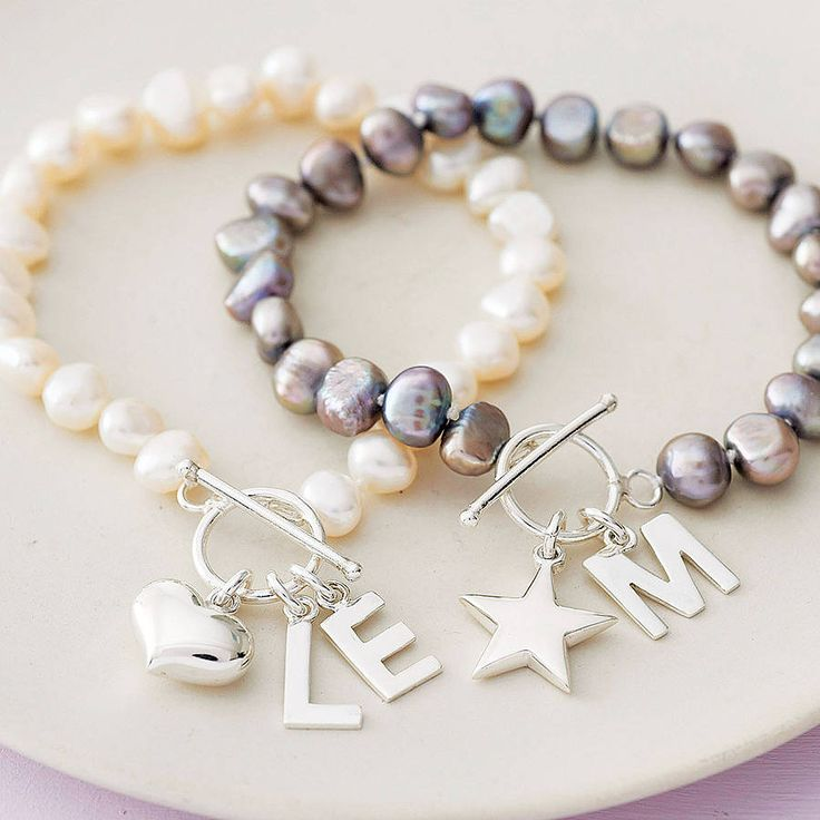 Freshwater Pearl Initial Bracelet from notonthehighstreet.com