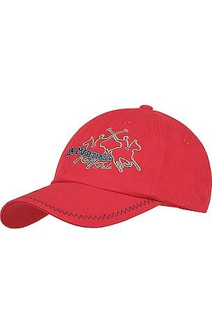 Modisches Baseball-Cap von La Martina in Rot. Mit Logo-Stickerei, aus reiner Baumwolle.