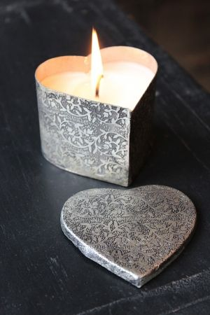 Candles | Velas | Candlelight | a Bougies | Silver | Heart