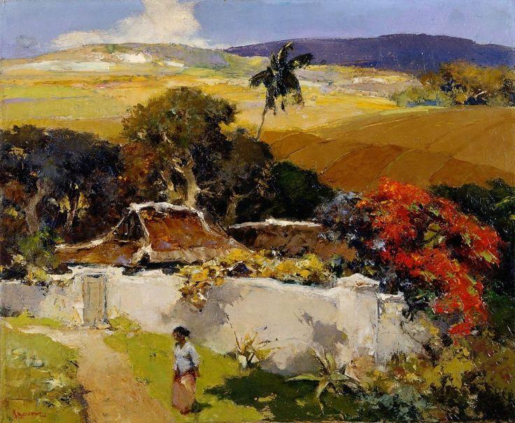 Gerard Pieter Adolfs - Paysage d'Indonésie (1955 ca)