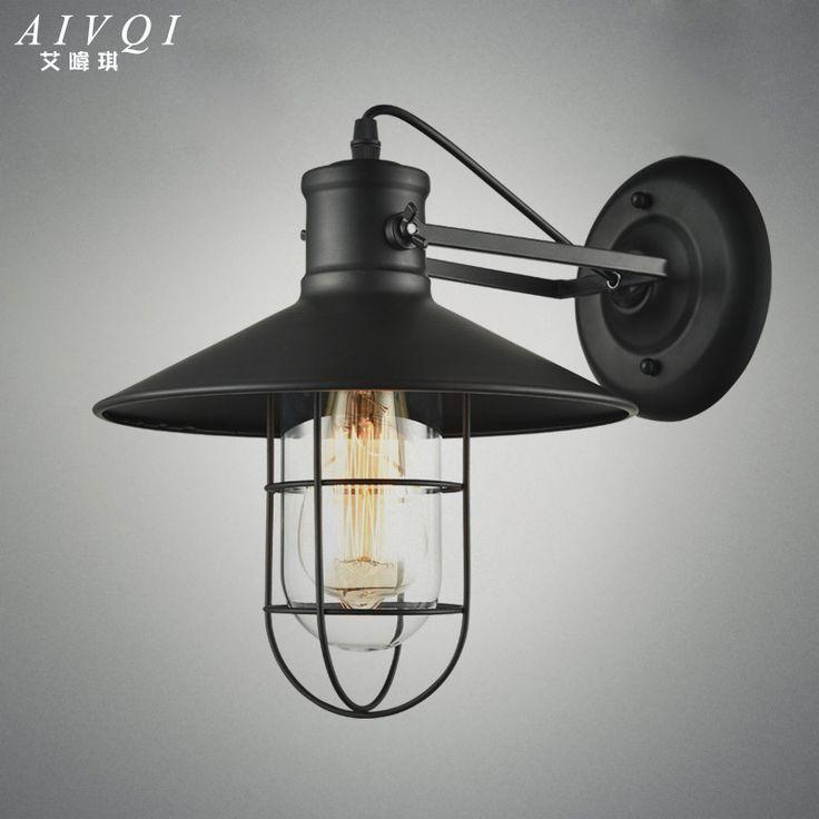 Loft Industriële Wandlampen Amerikaanse Vintage Wandlamp Binnenverlichting  Nachtkastje Lampen Voor Thuis Decor E27 Edison Lamp 110v