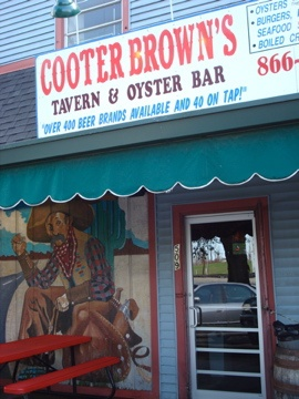 Cooter Browns local bar in New Orleans  Best Po Boy I had while I was there!