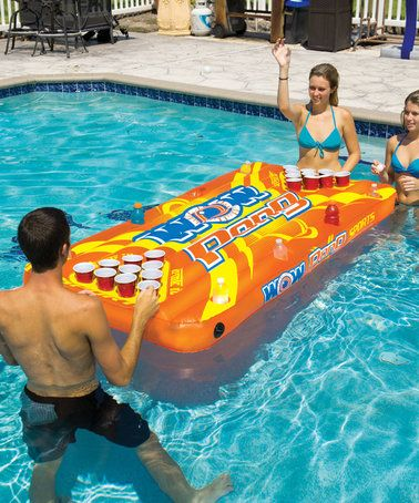 $35.49 marked down from $65!! Pool Pong Table Float #pool #beerpong #game #Adults #zulilyfinds