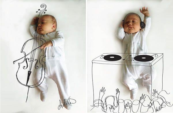 The Odd Blogg: Sleeping Musical Baby Photography
