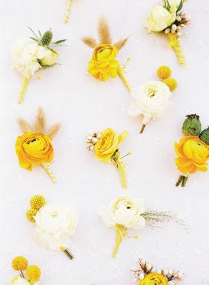 yellow boutonnieres | Ryan Ray #wedding