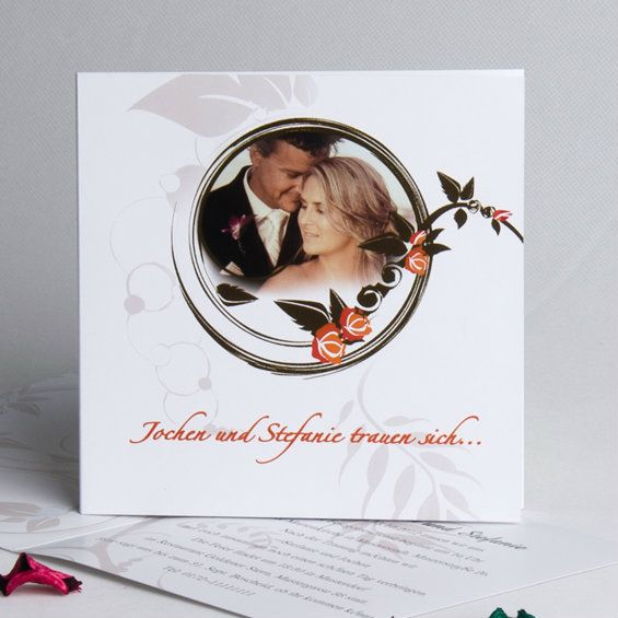 Wir Trauen Sich Klassisch Elegant mit Foto Romantisch Hochzeitskarten