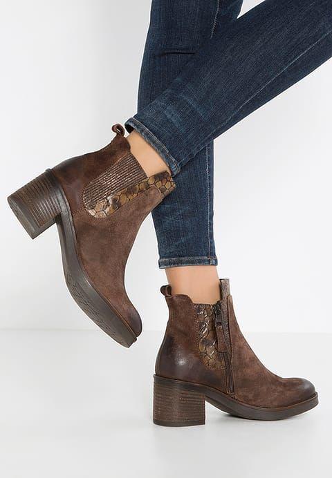 Boots à talons - cacao/tan