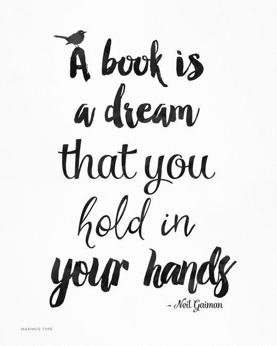 YES! :: Neil Gaiman quote, Literary Quote Art Print