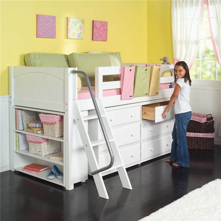 Kicks Low Loft Bed with Storage by Maxtrix