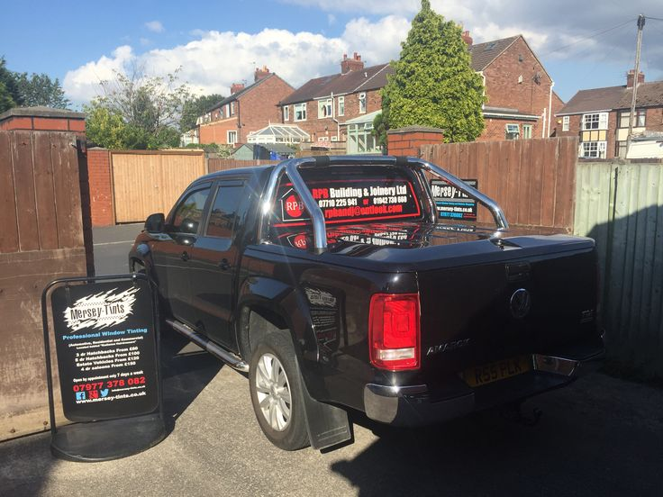 We had Ross in today with his 2012 VW Amarok for 5% Carbon limo tints to the rear and livery for the rear screen. Thanks Ross #vwamarok #merseytints #suntekcarbon