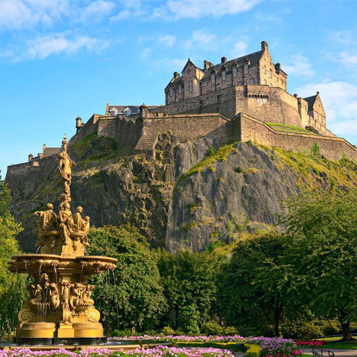 Edinburgh Castle #Edinburgh #Castle #Volcano #Capital #scotland #highlands #scottish #tattoo #fringe