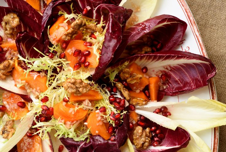 Persimmon Salad with Pomegranate and Walnuts by David Tanis