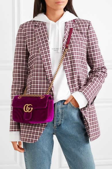9d9741fbf97f4e Gucci - GG Marmont mini quilted velvet shoulder bag in 2019 | Style ...