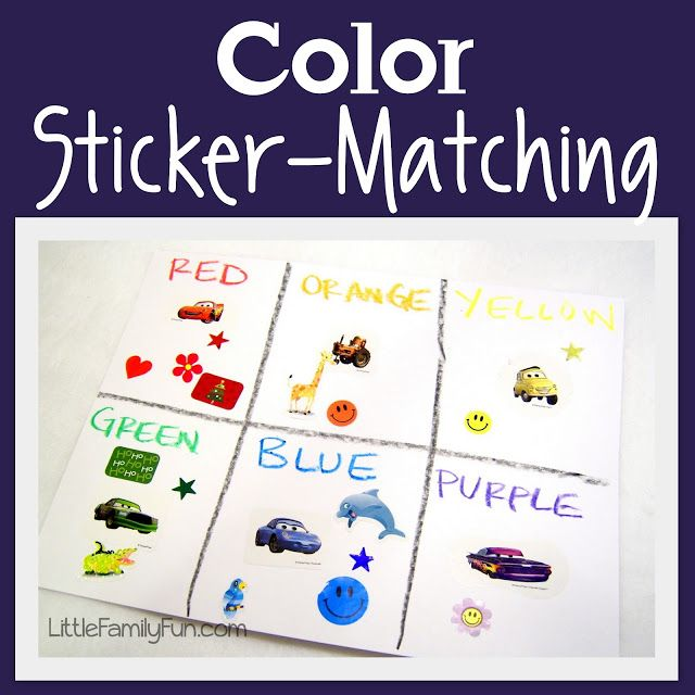 Little Family Fun: Color Sticker Matching. 2 year old Room & Preschool with…
