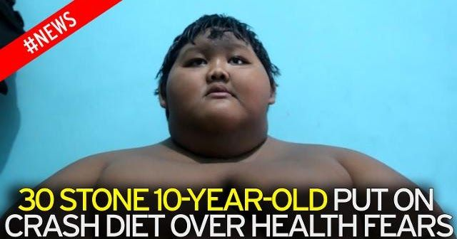 World's fattest boy who weighed staggering 30stone aged 10 loses 12 stone after he was unable to walk or play  The world'sfattestboy who weighed a massive 30stone when he was just 10-years-old has lost a staggering amount of weight so he can play with his friends.  Arya Permana has shed 12stone after his size meant he was unable to move from his bed.  Now the 12-year-old even plays badminton after being unable to walk sit or play because he was so obese.  Indonesian Arya's ever-growing giant…