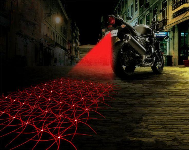 Tahan air Lampu Kabut Sepeda Motor Keren Sepeda Motor Ekor Cahaya Belakang Sepeda Motor Aksesoris Mobil styling Mobil Laser Brake Hidupkan Bulb