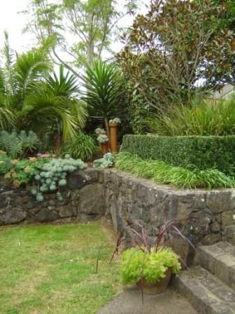 Fabulous My Home Garden With Volcanic Rock Walls Built With Rock From The  Property Designed By