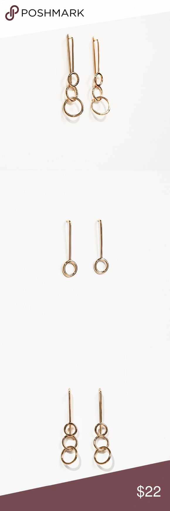 Studio Double Ring Earrings - ZARA Super chic. SOLD OUT in stores and online. Open to reasonable offers. Zara Accessories