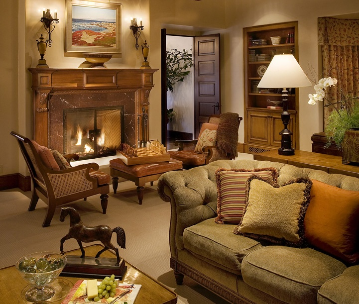 Beautiful Hacienda Spanish Style Living Room