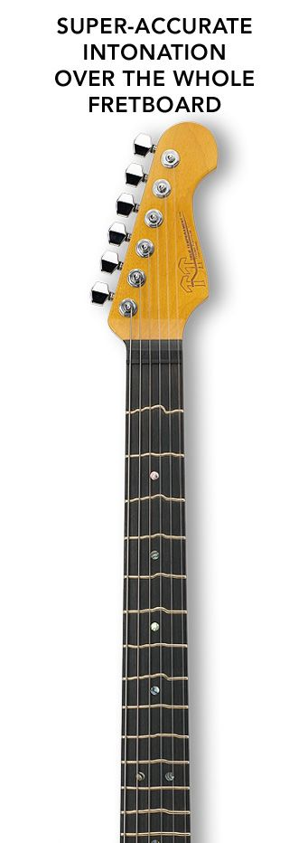 Tripped out frets for true temperment! I would love to try one of these things out.