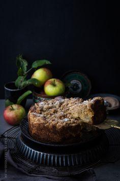 HUI, mein famoses Rezept für einen saftigen Apfelkuchen mit knusprigen Zimtstreuseln