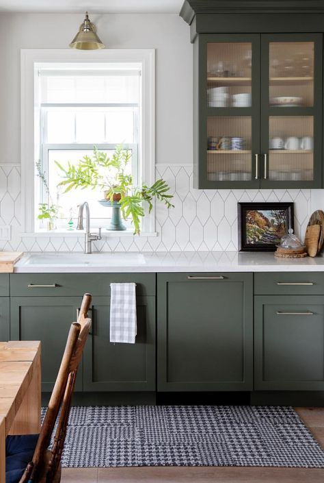 Beautiful Non Traditional Paint Colors Ames Interiors Coloured Kitchen Cabinets Green Cupboards