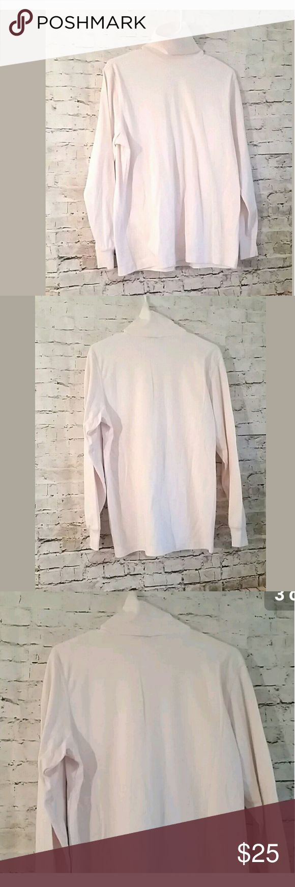 """Lands End Turtleneck Shirt Top Pink Long Sleeve Lands End Turtleneck Shirt Top Pink Long Sleeve 100 Cotton Made in USA  Measurement-Taken laying garment flat:        Pit to Pit: 20""""         Length: 25""""  Size: M Medium   Condition: Great used condition,please feel free to ask questions! Lands' End Tops Tees - Long Sleeve"""